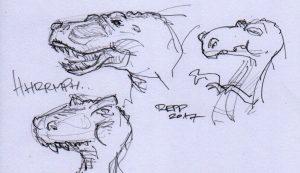 Skizzen von Dinos