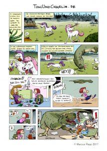 Dinosaurier und Einhörner in einem Comic. Kann das gutgehen?