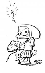 Charlie mit Kuschel-Dino